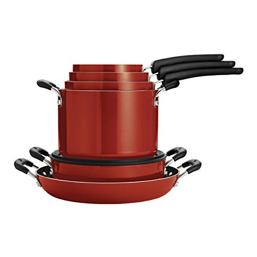 Tramontina Nesting 11 Pc Nonstick Cookware Set - Red - 80156/042DS
