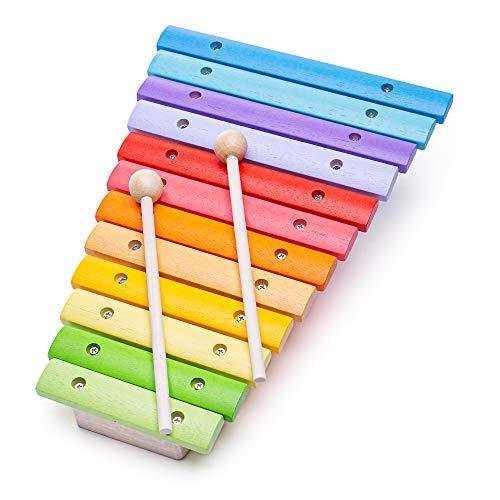 Bigjigs Toys Xylophone Flamboyant   Jouet Traditionnel   Jeu Éducatif   Cadeau Enfant   Jouet Bébé   Jouet Enfant