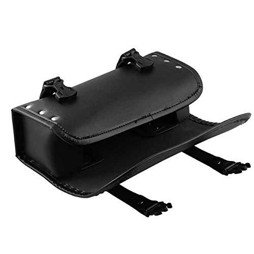 Baceyong Sack - Bolsa de herramientas para moto (piel, 30,5 x 12 x 9 cm), color negro