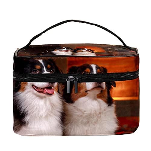 Bolsas de maquillaje para mujeres y nis Estuche organizador de cosmicos de mano bolsa portil de viaje Neceser de viaje dorado bol de Navidad muco de nieve Campana Neceser