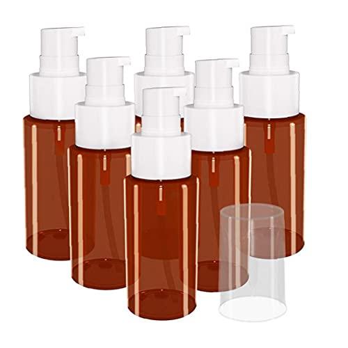 Budstfee Botella de pulverización Muestra cosmética vacía 60 ml Rociador de Spray Mousses de jabón Dispensador de líquido para Limpieza Aromaterapia Cosmetic 6pcs