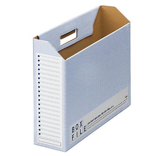 プラス ファイルボックス ダンボール エコノミー 5冊 B4横 背幅100mm 77-897 ブルー