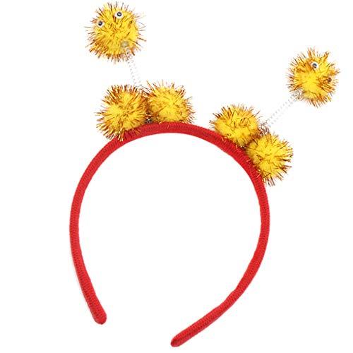 D DOLITY Fille Bandeau d'Antenne Serre-tête Costume Insecte Coccinelle Abeille pour Fête Jeux de Rôle Déguisements Cosplay - Jaune