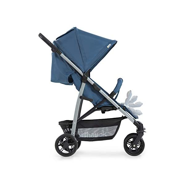 Hauck Rapid 4, 0 Months to 22 kg, Foldable, Compact, with one Hand, with Sleep Position, Height Adjustable Handle, Large Basket - denim/grey, Rapid 4, Up to 25 Kg Hauck Easy folding this pushchair is as easy to fold away as possible - the comfort stroller can be folded with one hand only within seconds, leaving one hand always free for your little ray of sunshine Long use this buggy can be used for a very long time. it is suitable from birth (also compatible with 2in1 carrycot or comfort fix infant car seat) up to a maximum of 22kg Comfortable back friendly push handle adjustable in height, the hood extendable; suspension, swivelling front wheels, soft padding, and large shopping basket 34