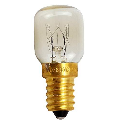 Horno Bombilla E12 / E14 Base cobre Microondas Instalación fácil Luz sal...