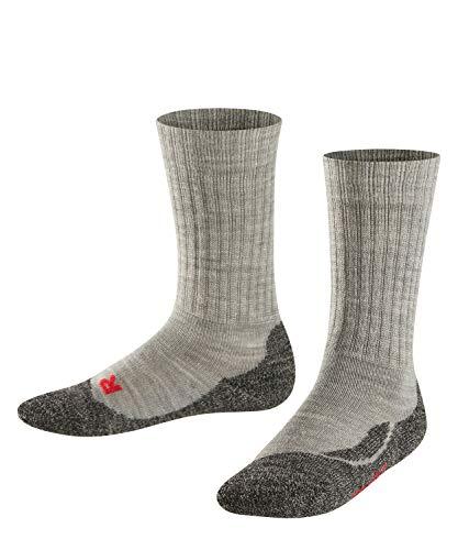 Falke Unisex Kinder Socken, Active Warm K SO -10450, Grau (Mid Grey Melange 3530), 27-30