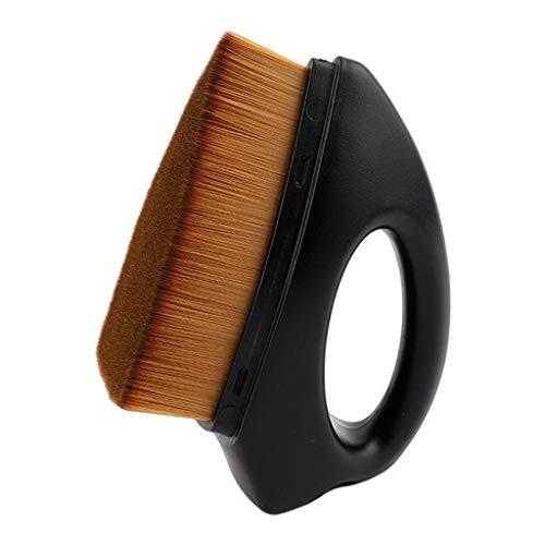 F Fityle Pinceau Fond de Teint Sans Couture BB Crème Maquillage Pinceau Plat Outils de Sculpture pour Le Visage, Faciles à Tenir et à Utiliser - Noir