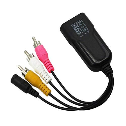 SZYZ 1080P HDMI-kompatible Buchse zu 3 RCA-Stecker Video Audio Converter Kabeladapter Schwarz