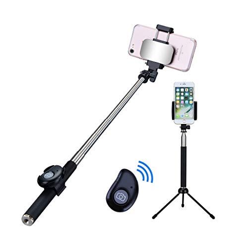Xxw lamp roestvrij staal materiaal Selfie Stick universele mobiele telefoon Bluetooth afstandsbediening kaart foto driehoek beugel