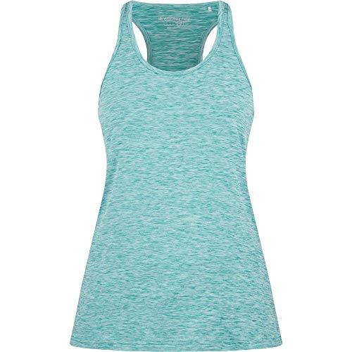 ENERGETICS Camiseta de Tirantes para Mujer Gerlinda 2, Mujer, Camiseta sin Mangas para Mujer, 302651, Azul/Amarillo, 46