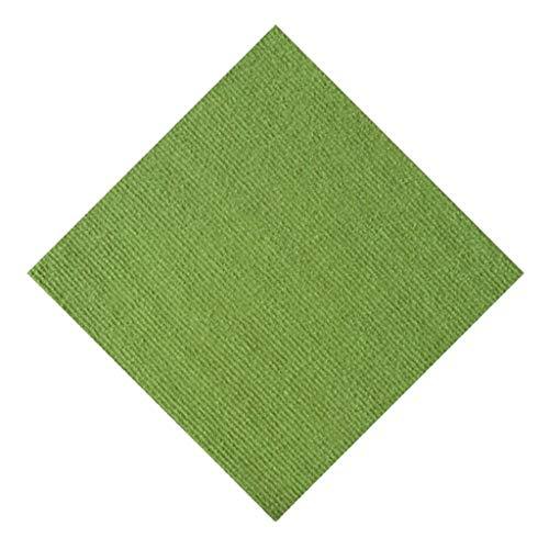 FNKDOR Teppichboden Adsorption Teppichfliesen Flickenteppich Wohnzimmer Ohne Klebstoff Selbstklebend Grün 30 x 30 cm