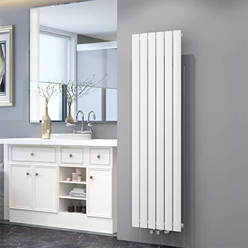 ELEGANT Design Flach Heizkörper 1600 x 462 mm Weiß Badheizkörper Einlagig Heizkoerper Vertikal Paneelheizkörper