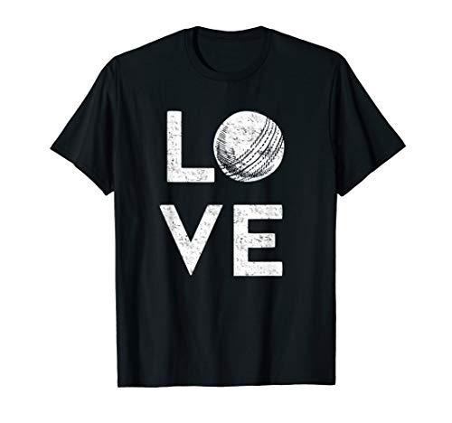 Ich liebe Kricket! Leidenschaftlicher Cricket-Spieler T-Shirt