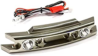 Integy RC Model Hop-ups C25582GUN Billet Machined Front Bumper w/LED Lights for Traxxas 1/10 Revo 3.3 & E-Revo