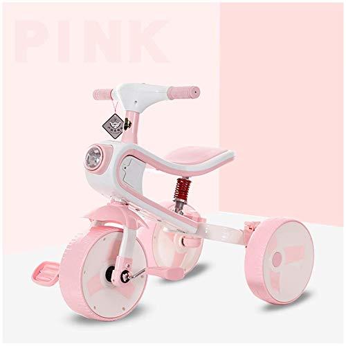 HYLH Dreirad FüR Kleinkinder, Kinder-Dreirad-Fahrrad 2-In- 1 Zusammen Mit Trike Kids Forst Dreirad Entwickelt Dreirad, Baby-Dreirad, Mit Sicherem Und Sicherem Design, Pink