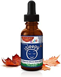 Sleep Support Herbal Supplement for Kids by Bioray | NDF Sleepy Calms the Body and Spirit, Relaxes the Mind, Decreases the Time it Takes to Fall Asleep | 2 fl oz