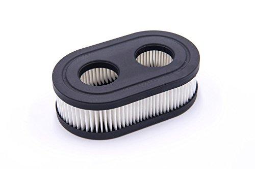 vhbw Papier-Luftfilter Ersatzfilter 11,1 x 6,7 x 3,4cm schwarz, weiß für Rasenmäher Briggs & Stratton 09P702-0128-F1, 550E, 550EX, 575EX, 9 Motor