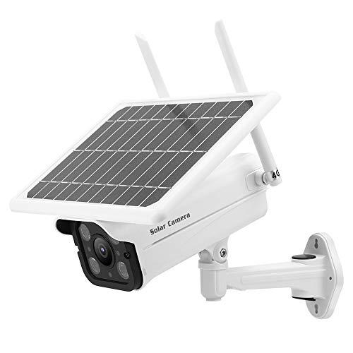 Cámara de seguridad 1080P, cámara de vigilancia solar 1080P 4G IP66 7W Sistema de monitor de seguridad inalámbrico con LED para cámara CCTV de vigilancia para exteriores/interiores(US)