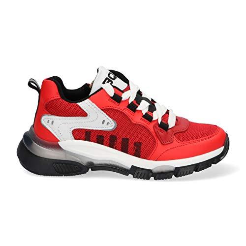 Braqeez Mich Malta Kinderschuh Größe 32 für Kinder Junge Jungen - Sneaker in rot - Atmungsaktiver Schuh Outdoor Unisex-Kinder