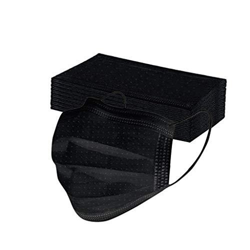 Keepwin 50 Stück Einweg 3 lagig Mund-Nasen-Schutz, Motiv Atmungsaktive Multifunktionstuch Bandana Halstuch Schals für Erwachsene und Kinder (E-50PC)