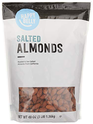 Amazon Brand  Happy Belly Roasted amp Salted California Almonds 48 Ounce