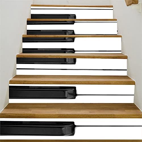 CACAIMAO Pegatinas De Escalera Autoadhesivas Impermeables De PVC, Pegatinas De Pared De Mosaico 3D, Pegatinas De Decoración De Escalera DIY 6 Piezas 18cm*100cm