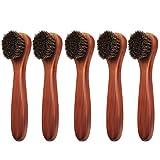 Coolty Pinceles para pulir zapatos Cepillo de Daubers Clean para de Pelo para Bolsos de Cuero (B-2)