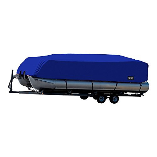 """MSC Trailerable Pontoon Boat Cover 300D UV,Mainre Grade, Color Grey,Pacific Blue Available (Pacific Blue, Model A - Fits: 17' to 20'L Beam Width to 102"""")"""