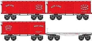 Micro-Trains MTL N-Scale Red Line Civil War Era Box & Flat Cars - Runner 4-Pack