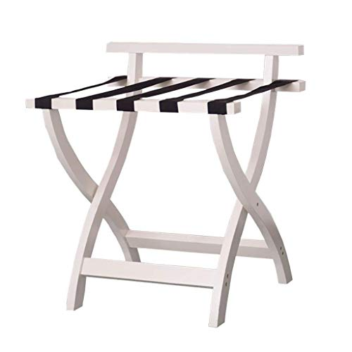 LIXUDECO Luggage Rack Luggage rack Luggage Rack, Hotel Home Solid Wood Folding Luggage Rack, Travel Rest Stool 23.6 * 18.5 * 26.8 Inches For Bedroom
