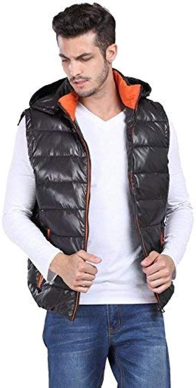 Yingsssq Adding fertilizer XL men's coats. Casual collar down vest. Plus size men's fat down jacket vest. Sleeveless jacket, black, 2xl (color   -, Size   -)