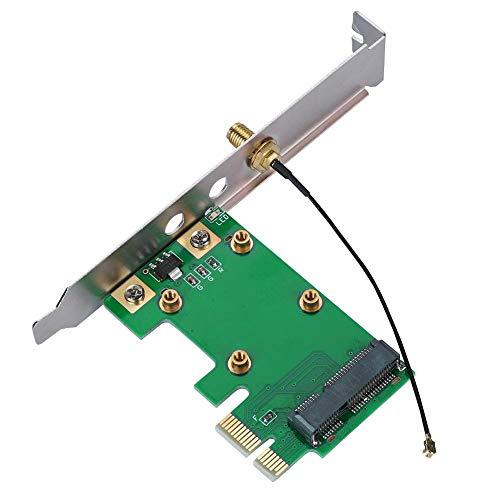 ASHATA Mini PCI-E zu PCI-E Adapter,Mini PCI-E auf PCI-E Express Riser Netzwerkkarte Adapter,PCI-E Riser Card Mini PCI Wireless Netzwerkkarte Konverter,Kein Treiber Einfache Installation