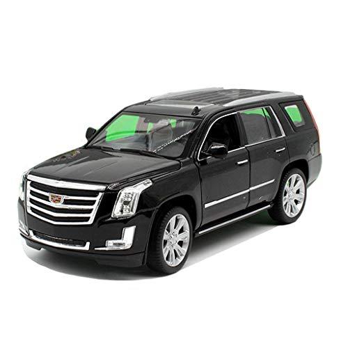 CIGONG Modelo de automóvil Cadillac vehículo Todoterreno 1:24 simulación de aleación de fundición de Juguete Modelo de Coche Regalos de los niños Modelo de Auto (Color : Black)