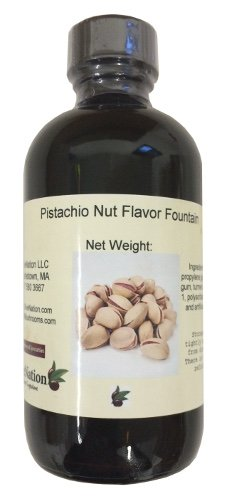 OliveNation Pistachio Nut Flavor Fountain - 8 ounces - Gluten-free, Sugar-free - Kosher - Premium Quality Flavoring Fountain