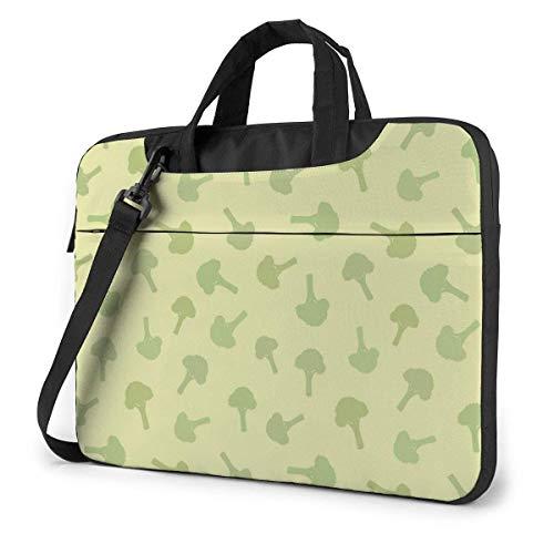 Broccoli Pattern Fashion Laptop Case Laptop Shoulder Messenger Bag Sleeve for 15.6 Inch