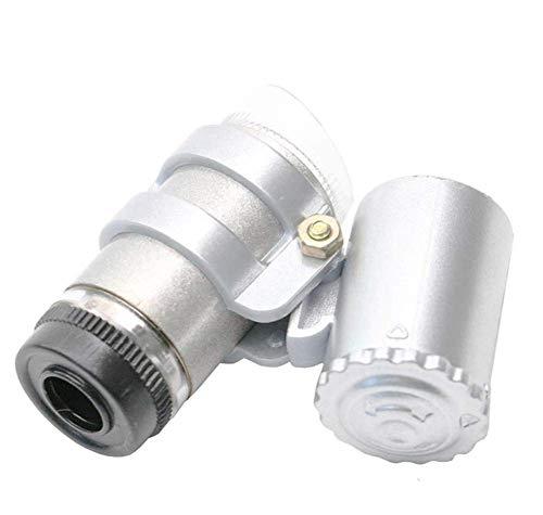 Wxxdlooa Pocket 45x Verstelbare Focus met LED Edelsteen Spiegel Antiek Speciale Vergrootglas Microscoop