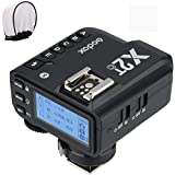 Godox X2T-C TTL Wireless Flash Trigger for Canon, Bluetooth Connection, 1/8000s HSS,5 Separate Group Buttons, Relocated Control-Wheel, New Hotshoe Locking, New AF Assist Light