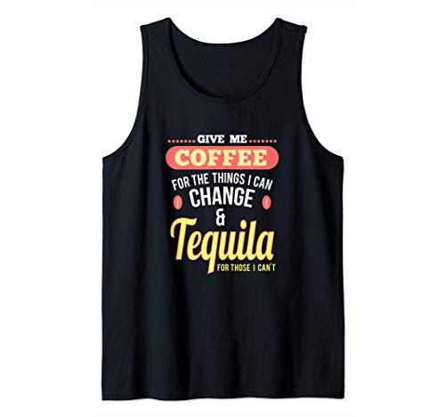 Spaß Kaffee und Tequila Shots Margarita Drinks Tank Top