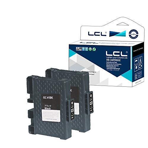 LCL Kompatibel Tintenpatrone GC-41 GC41 GC41K Pigment (2Schwarz) Ersatz für Ricoh Aficio SG 2100 2100N 2010L 3100SNW K3100DN 3110DN 3110DNW 3110N 3110SFNW 3120B SFNw 7100DN SG K-3100DN