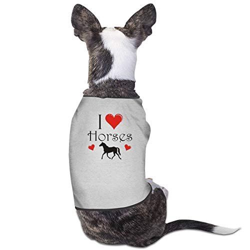 Jiaojiaozhe I Love Paarden Auto Huisdier Service Huisdier Kleding Grappige Hond Kat Kostuum Tshirt Grijs, M, Grijs