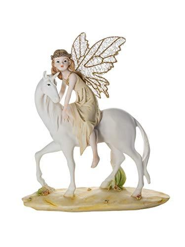 Mousehouse Gifts Figura Decorativa de Hada y Unicornio Adornos