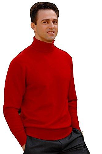 Elegance1234 - T-Shirt à manches longues - Homme Rouge Rouge - Rouge - Rouge - Large