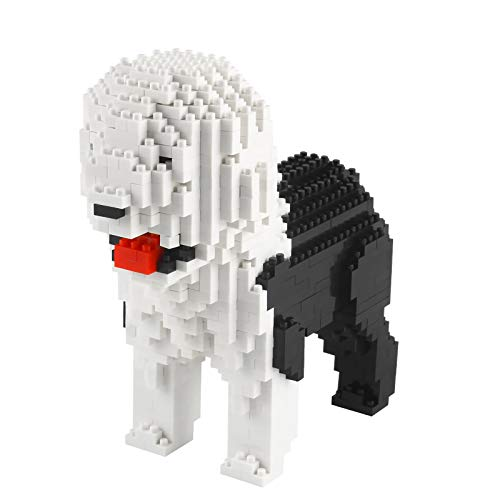 Larcele Mini Dog Building Blocks Pet Building Toy Bricks,950 Pieces KLJM-02 (Old English Sheepdog)