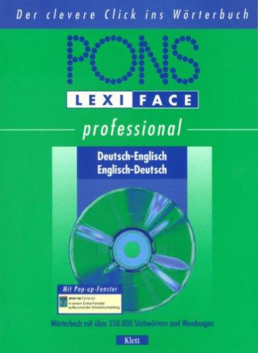 Preisvergleich Produktbild PONS Lexiface Professional Englisch,  1 CD-ROM Für Windows XP / 98SE / NT / 2000. Mit über 350.000 Stichwörtern u. Wendungen