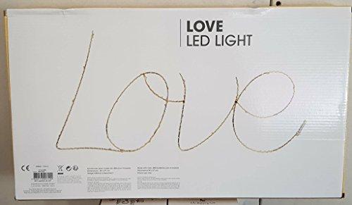 La Chaise Longue - Lámpara decorativa LED, diseño con texto 'Love'