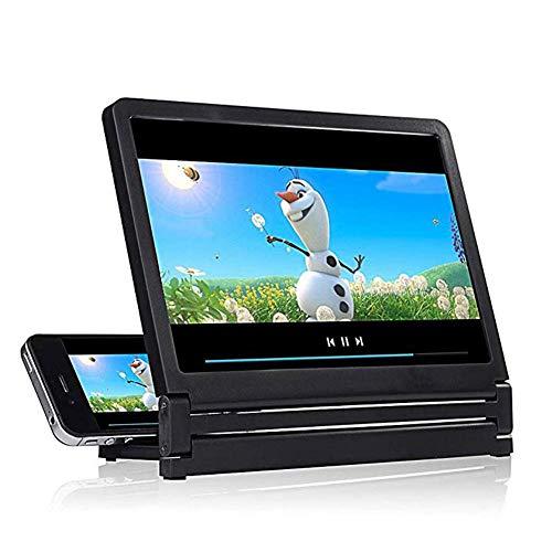 Lupa para periódicos, proyector de teléfono Celular Amplificador agrandado Soporte de Soporte móvil Soporte para Video 3D HD para Todos los teléfonos Inteligentes Sobremesa Lupa