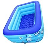 Liadance Aufblasbarer Pool Für Kinder, Familie Rechteckige Planschbecken, Mini Aufblasbare Badewanne Swimming-Pool, Für Gärten Im Freien Hinterhof-Partys 120x80x50cm