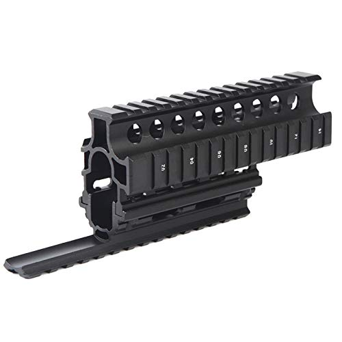 HXF Hxfang® K47 74 AKS Universal Quad Rail Monte HandGuard Quad Side Rail with 12pcs Cover Airsoft Rifle Hunting Shooting Caza (Color : Only handguard)