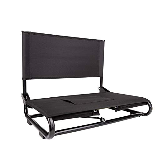 Cascade Mountain Tech Portable Stadium Seat with Back Support for Beanches and Bleacher