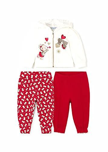 Mayoral Chándal 2 pantalones Bebe Niña 6 a 36 meses Rojo (9 meses)